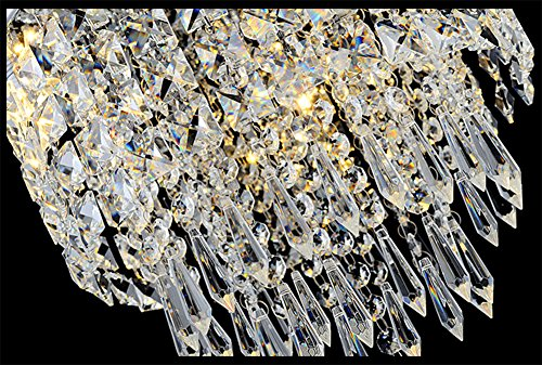 Hile Lighting KU300074 Modern Chandelier Crystal Ball Fixture Pendant Ceiling Lamp H9.84'' X W8.66'', 1 Light by Hile Lighting (Image #4)