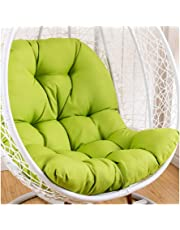 Swing Hammock Egg Chair Cushion Without Stand, Cotton Pads Removable Seat Cushions with Pillow, Overstuffed Hanging Baskets Rattan Chair Cushions 125x95 cm (49x37inch)