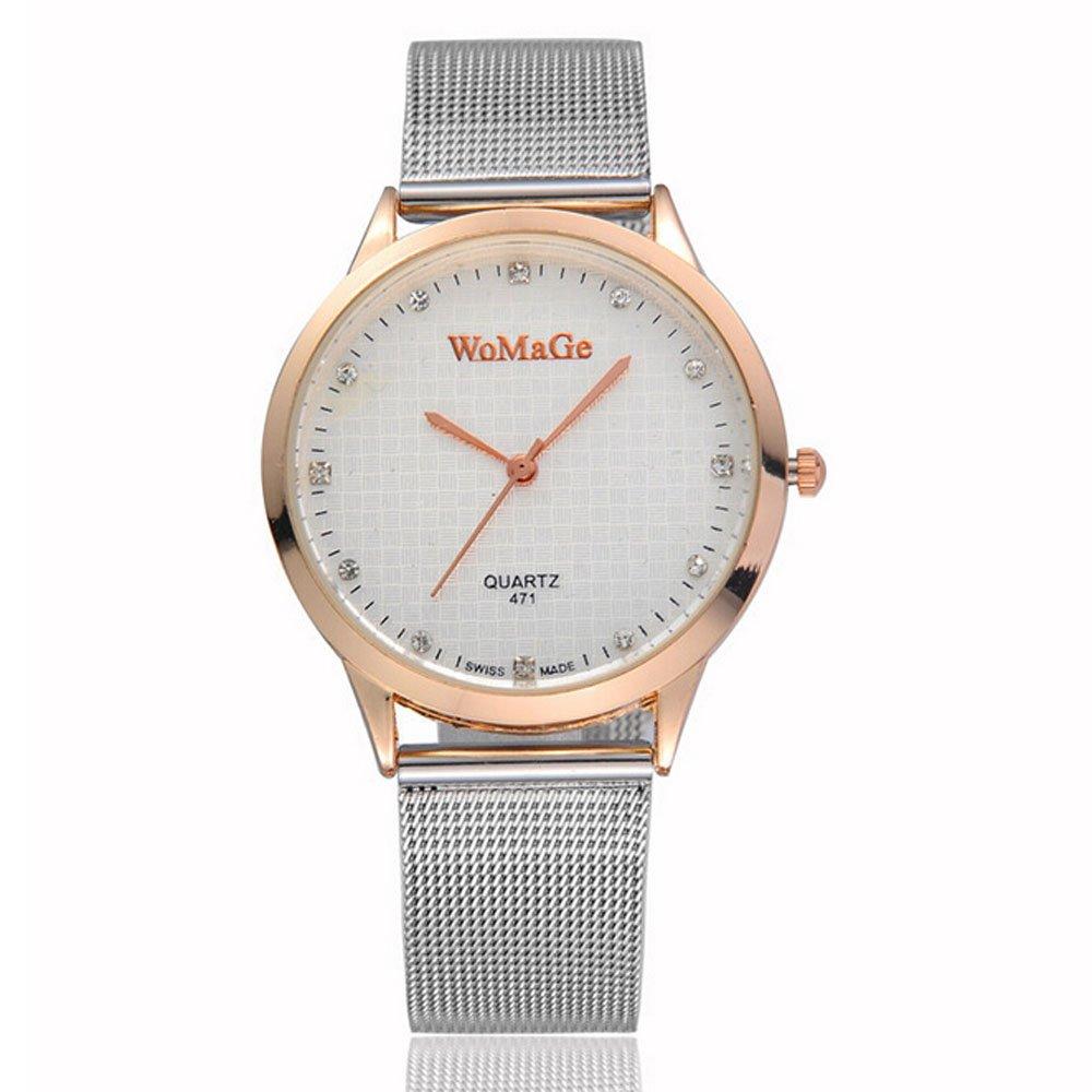 R-temporizador relojes marca para colchones Womage de la Alianza Fashion acero inoxidable relojes, Golden: Amazon.es: Relojes