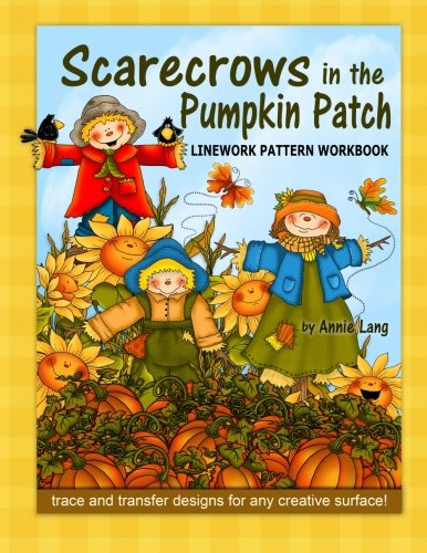 Scarecrows in the Pumpkin Patch: Linework Pattern -