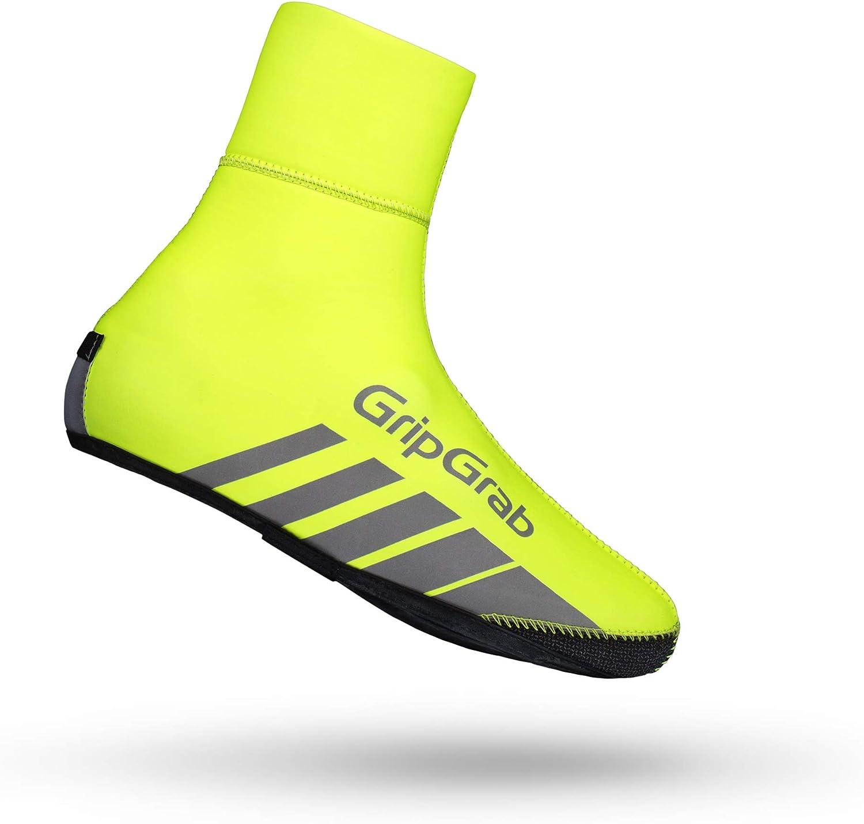 GripGrab Unisexs RaceThermo Waterproof Winter Neoprene Road Bike Overshoes-Windproof Thermal Cycling Shoe-Covers Black /& HiViz