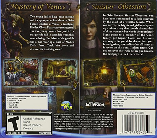 Grim Facade Dual Pack: Mystery of Venice and Sinister Obsession - PC