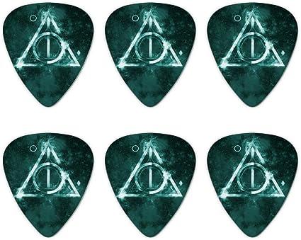 Harry Potter - Juego de 6 púas para guitarra con logo de las ...