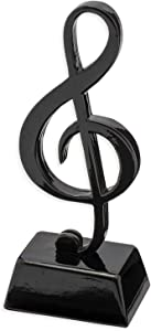 Broadway Gift Black Treble Clef Music Instrument Miniature Replica on Stand, Size 5 in.