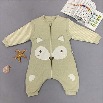 Gleecare Saco de Dormir para bebé,Algodón orgánico Natural Divide la Patada de Pierna Saco