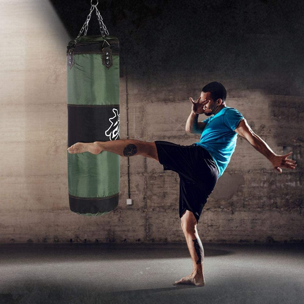 Bnineteenteam Heavy Punching Bag,Training Boxing Bag with Chain for Adults Men Women Empty