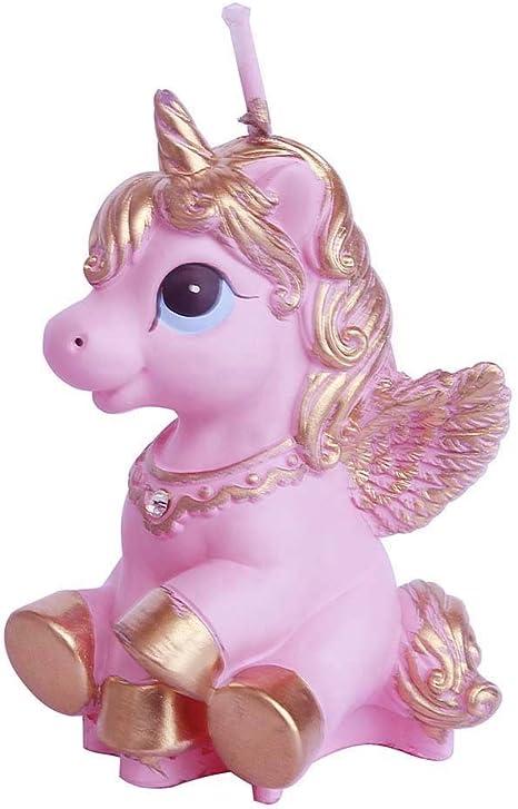 e-meoly Creative Cartoon Pegasus caballo volador cumplea/ños velas Unicorn encantador regalos fiesta velas velas sin humo para fiestas Favor de recuerdo de suministros y boda Favor