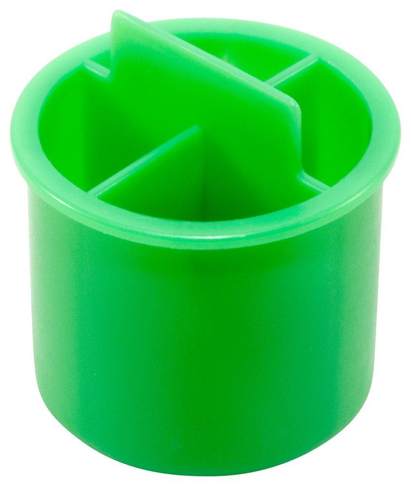 Caplugs QOT161AG1 Plastic Plug for Type K Style Tubing. OT-16, PE-LD, Cap OD .62'' Plug ID .676'', Green (Pack of 1000)