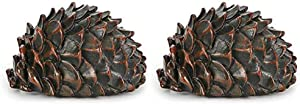 2pcs Pinecone Hide Keys Box Outdoor Garden Security Stash Storage Case Hidden Key Box by AIYMO
