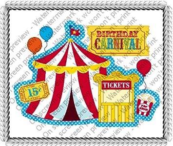 14 Sheet Carnival Party Birthday Edible CakeCupcake Topper