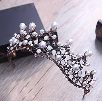 Amazon aukmla wedding bridal crowns tiaras baroco style for aukmla wedding bridal crowns tiaras baroco style for women and girls headband queen style junglespirit Choice Image