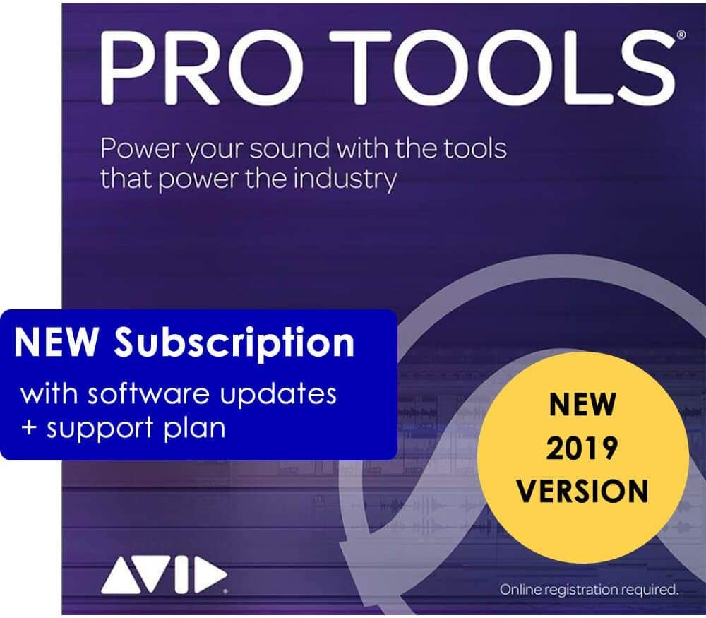 Avid Pro Tools 2019 Annual Subscription Download Card Only - Activate with iLok Cloud