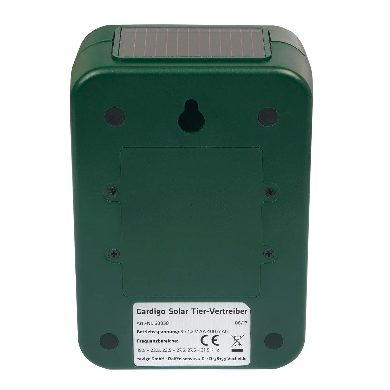 Gardigo 60058 - Repelente Solar Ultrasónico; Ahuyentador de perros, gatos, aves e zorros: Amazon.es: Electrónica