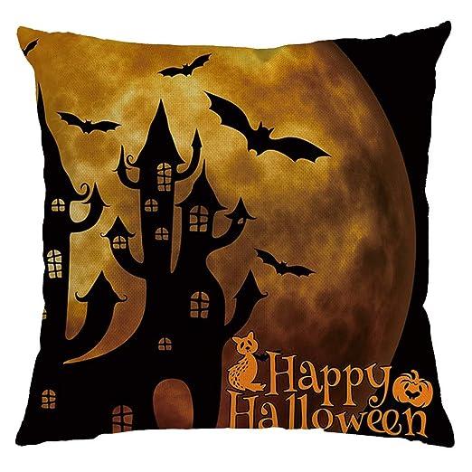 HEVÜY - Funda de cojín para Halloween, cojín para el Cuello ...