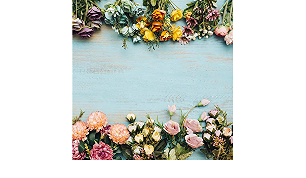 7x7FT Vinyl Wall Photography Backdrop,Antler,Soft Flowers Bouquet Spring Photo Backdrop Baby Newborn Photo Studio Props