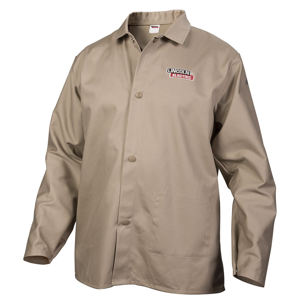 Lincoln Electric Khaki Large Flame-Resistant Cloth Welding Jacket by Lincoln Electric