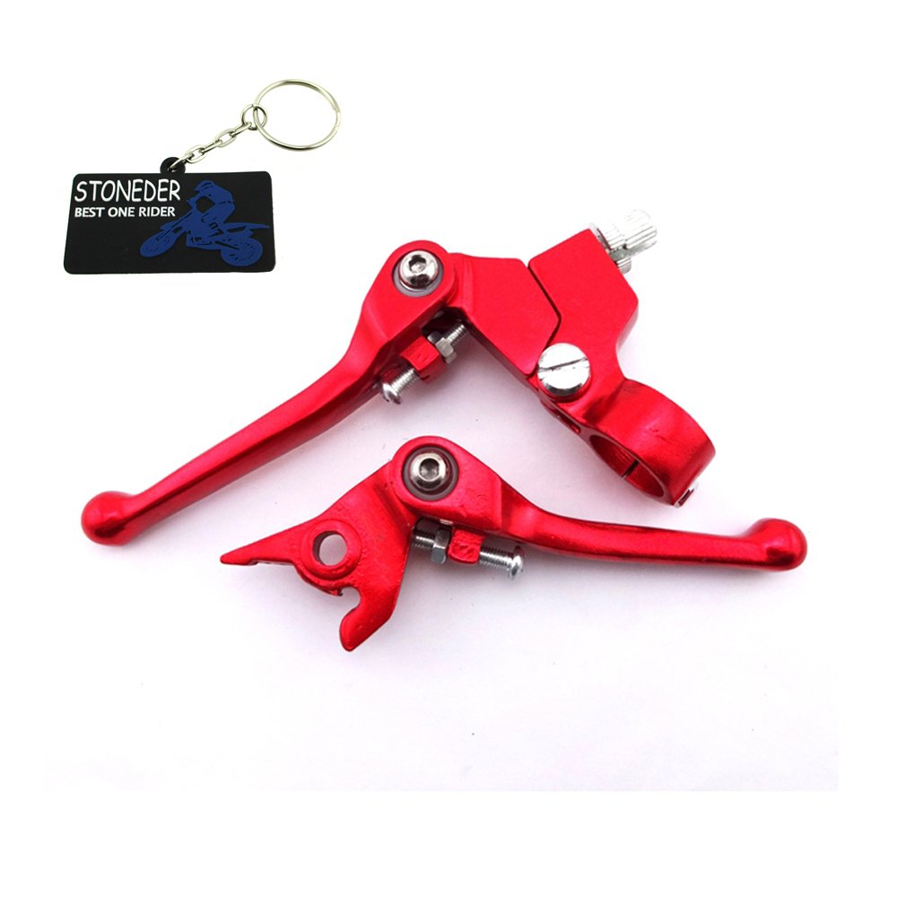 STONEDER Red Handle Clutch Brake Lever For Chinese Dirt Pit Bike Thumpstat Atomik Stomp