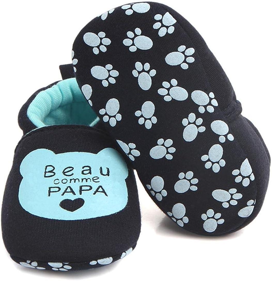 manadlian Chaussures B/éb/é,pour 3-12 Mois B/éb/é Beaux Enfants en Bas /âGe Chaussures de B/éB/é Marchettes 9-12 Mois, Bleu