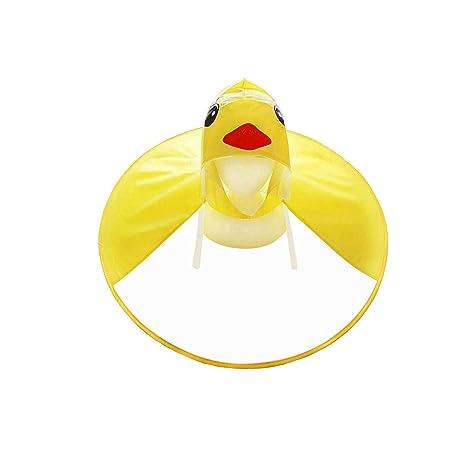 a237a80084 DB Berretto ombrello per bambini, cappello magico impermeabile poncho PVC per  bambini, Impermeabile leggero