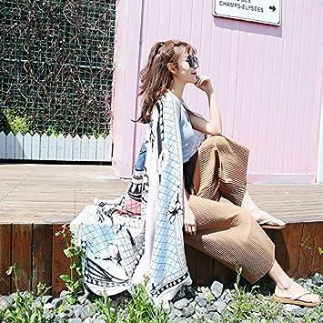 Bufandas envueltas Toalla de baño Chal Femenino Chal Conveniente Primavera Femenina y otoño Toalla de Arena China Fuera de un Simple Abrigo Toalla ...