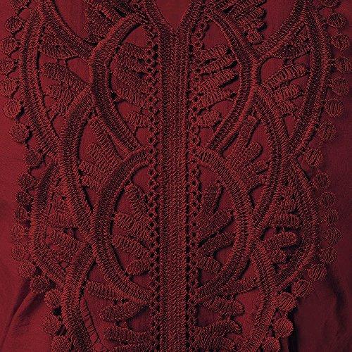 CharMma - Camiseta de manga larga - para mujer rojo vino