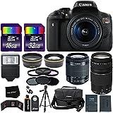 "Canon EOS Rebel T6i Digital SLR Camera International Version + 18-55mm ""STM"" Lens + 75-300mm III Zoom Lens + Telephoto & Wide Lenses + Canon Case + Flash + ND & UV Filter Set + 48GB SD Memory + Tripod"
