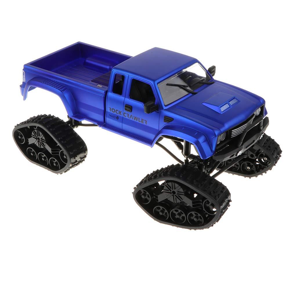FLAMEER 4WD 4WD FLAMEER 2,4 GHz 1/16 Skala RC Auto Fernbedienung High Speed Pickup Truck Spielzeug - Blau 2d114c