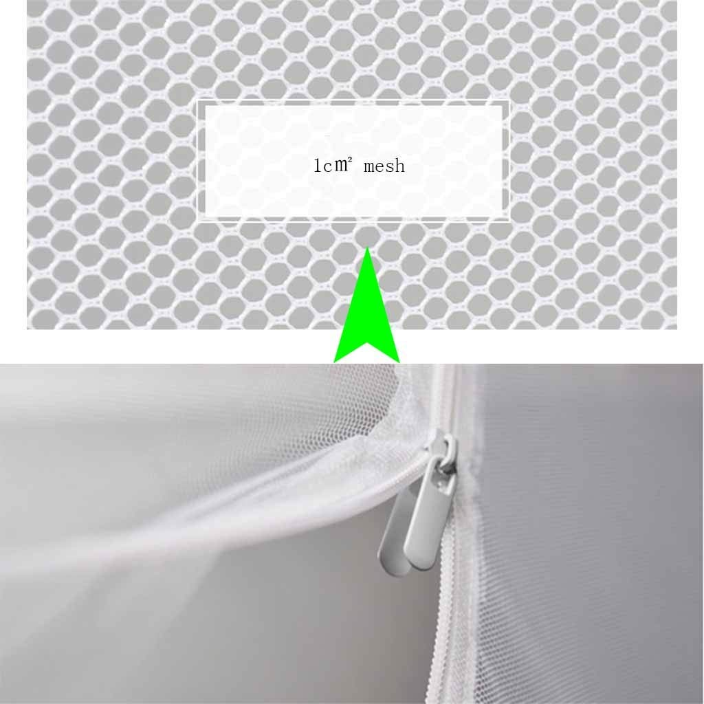 Mosquito Net Pop Up for Bed Queen Size, No Assembly Required Insect Netting Polyester, 3 Door Foldable Mosquito Netting for Baby Toddlers Kids Adult (Color : Gray, Size : 5 ft Bed) by Mosquito Net (Image #3)