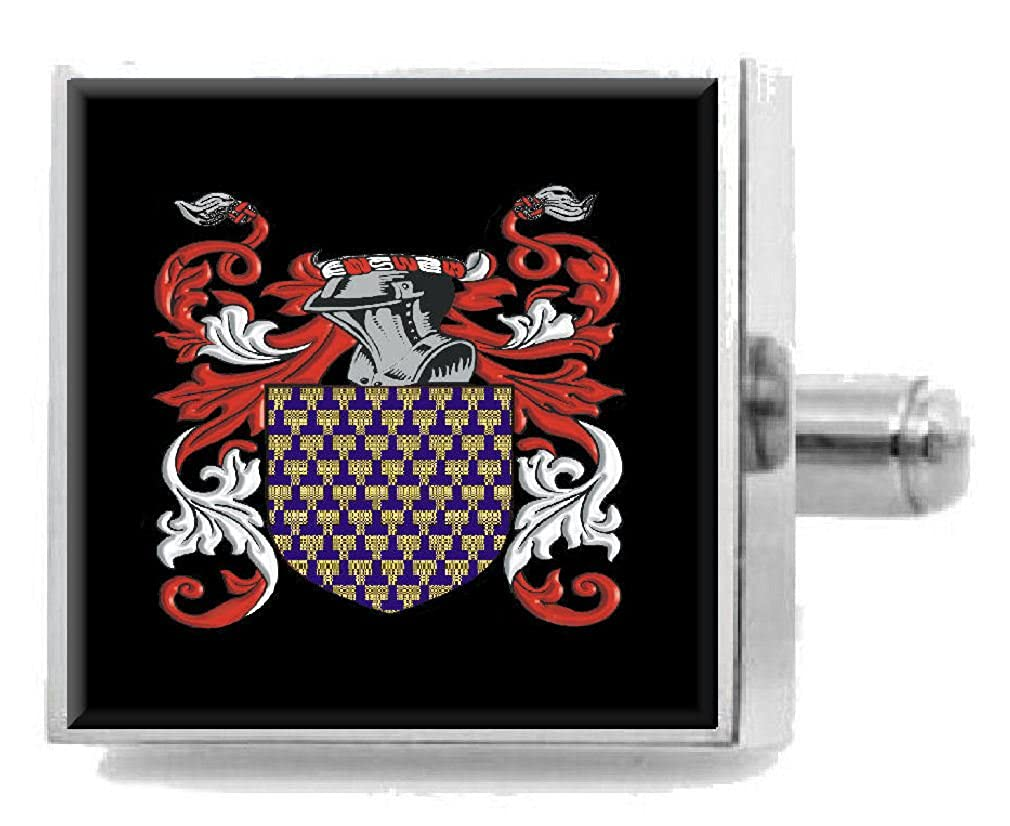 Select Gifts Mcwhirter Scotland Heraldry Crest Sterling Silver Cufflinks Engraved Box