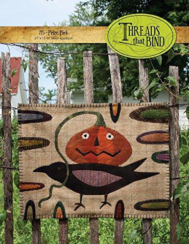 Prize Pick 215 Halloween Pumpkin Crow Threads that Bind Wool Applique Pattern for $<!--$14.65-->
