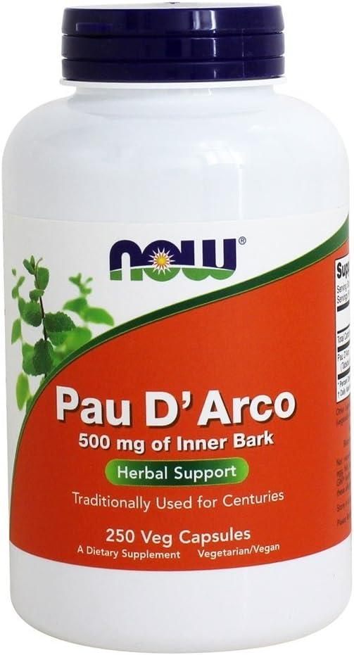 Now Foods PAU D' Arco, 500 mg, 250 Veg Capsules