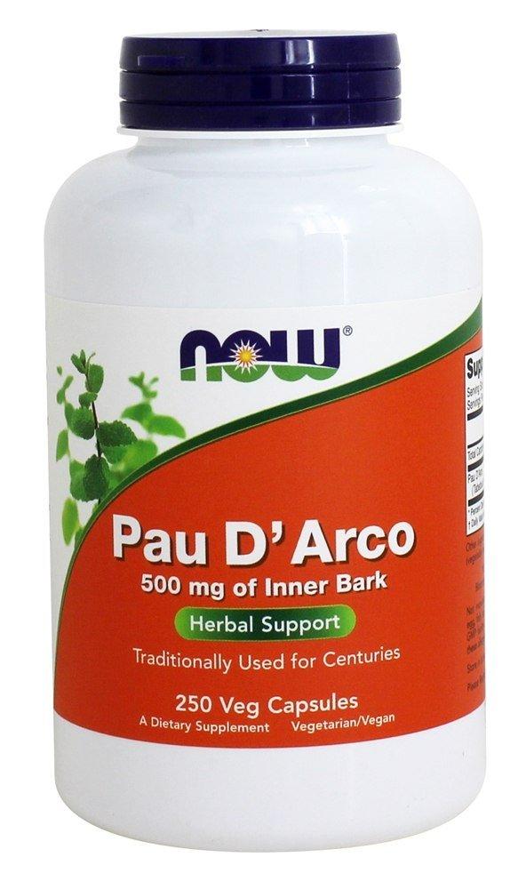 Now Foods Pau D Arco 500 mg 250 Capsules