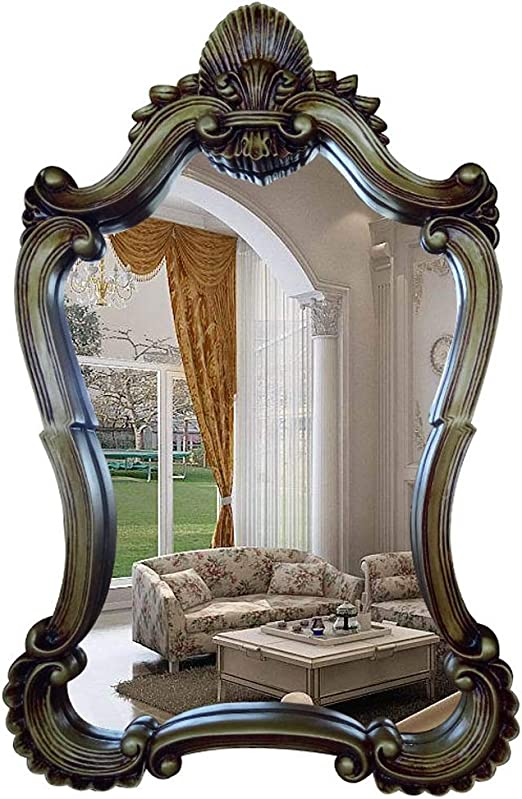 Amazon Com Lyqqqq Bathroom Mirrors Vintage Handmade Mirror Wall