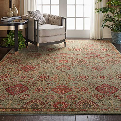 Nourison ST90 Somerset Light Green Oriental Area Rug 7