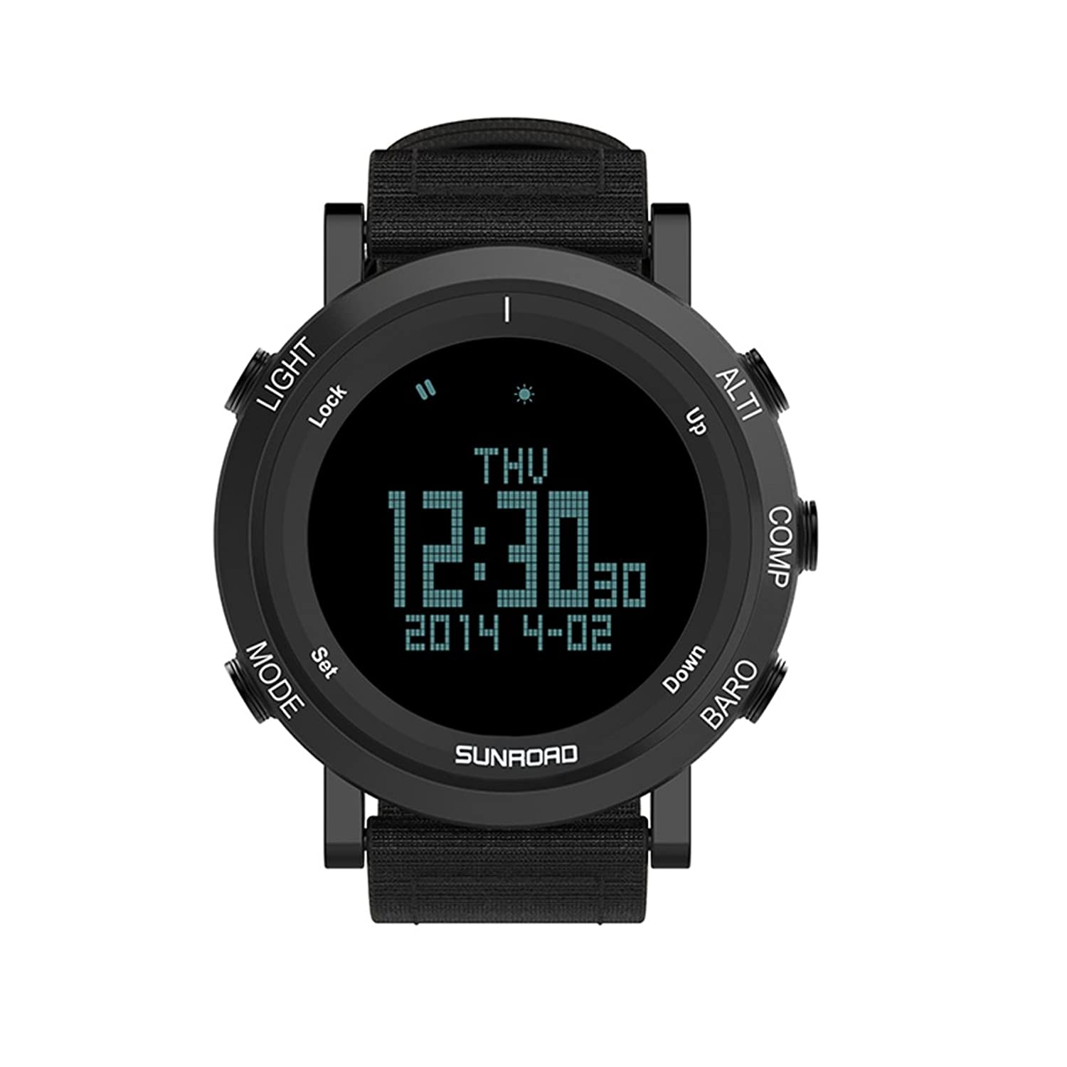 SUNROAD 2017 New Arrival Outdoor Sports Watch Men FR851B Altimeter Barometer Compass Pedometer Clock With High Quality