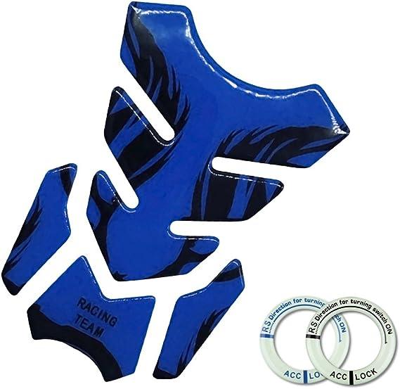 Protector del coj/ín Pegatina Cubierta Universal para Yamaha Suzuki Demino Motocicleta 3D Fuel Oil coj/ín del Tanque de la Etiqueta calcoman/ía Tanque para Yamaha