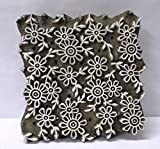 VINTAGE WOODEN CARVED TEXTILE PRINTING ON FABRIC BLOCK STAMP HOME DECOR HOT 85