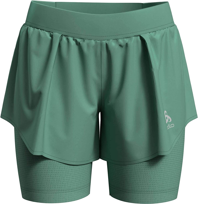 Odlo Damen Damen Shorts Zeroweight Ceramicool Pro 2-in-1 Shorts