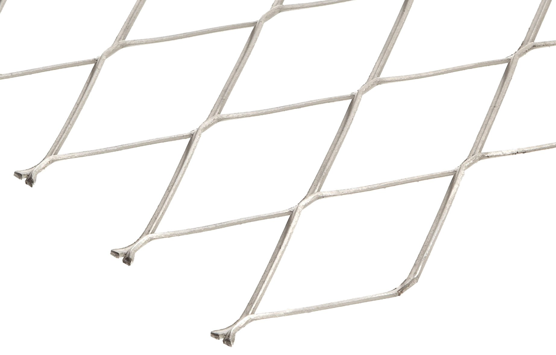 304 Stainless Steel Raised Expanded Sheet, Unpolished (Mill) Finish, 24'' Width, 24'' Length, 1.33'' SWD x 3.00'' LWD Opening, 16 Gauge
