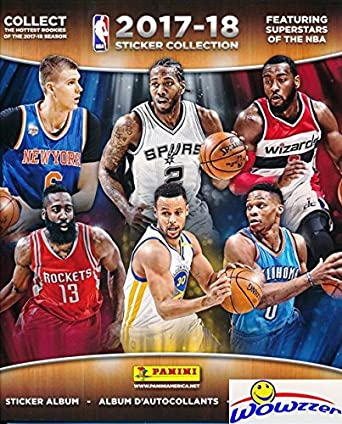 2017 18 panini nba basketball huge 72 page stickers collectors album with 10 bonus nba