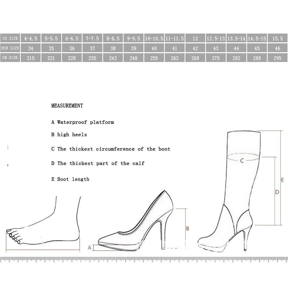 ¥schuhe Frauen Frauen Frauen Cowboy Hoher Absatz Fischmund Wasserdichte Plattform Denim Kniestiefel Loch Stiefel  b14f1e