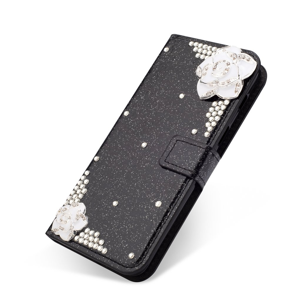 MAOOY Huawei P20 Pro Funda, Huawei P20 Pro Estilo de Libro Casco, Luxury Flash Rhinestone Leather Concha Shock-absorción Protector Ultra Fine Fit para ...