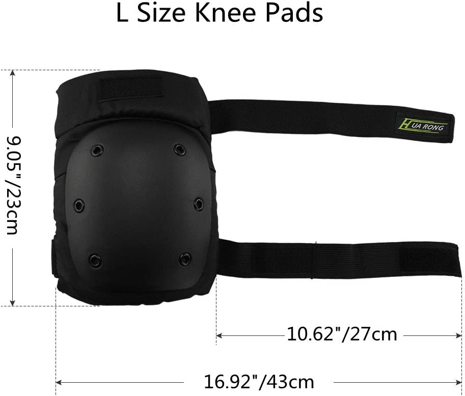 Mystery 3 in 1 Knee Elbow Pads Wrist Guards Thicken Skateboard Cycling Roller Skating Outdoor Sports Elbow Knee Wrist Protective Gear Pads Safety Gear Pad for Adult /& Child Kid Use