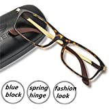 Computer Gaming Glasses Blue Light Blocking Anti Eye Strain Spring Hinge Goggles 1000+ Instagram Likes