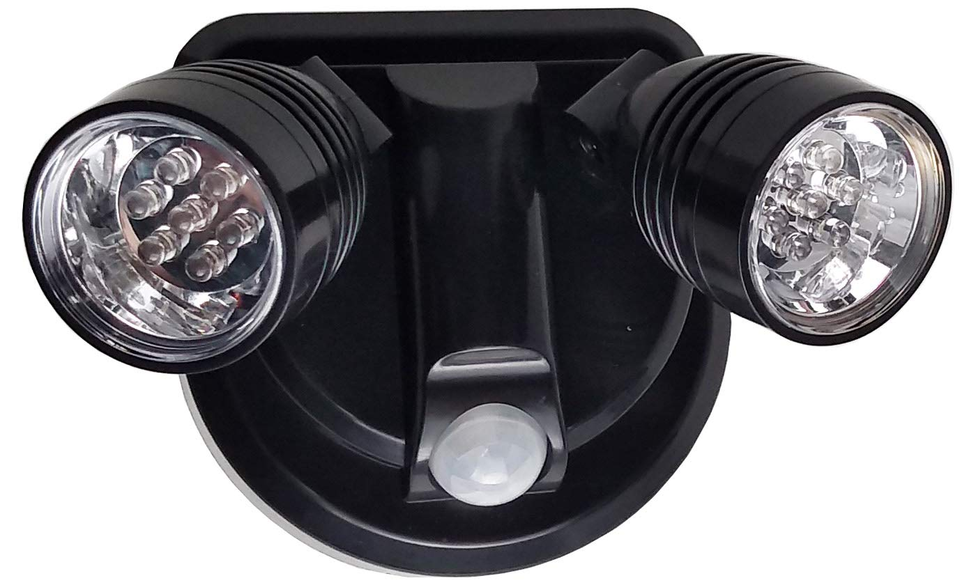 Milex LED Spotlight 360 Degree Wireless Weatherproof Motion Detector Lamps (Black)