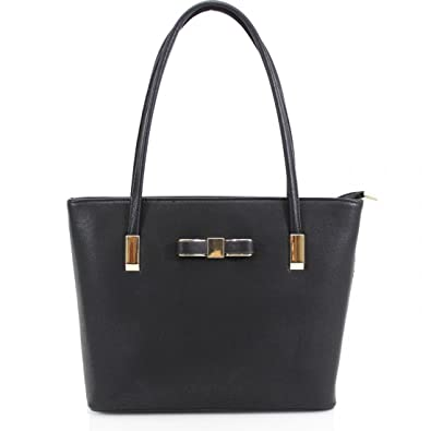 Women s Designer Style Bow Tote Handbag Ladies Shoulder Office Work Bag New   Amazon.co.uk  Shoes   Bags ad9bbe581a0ee