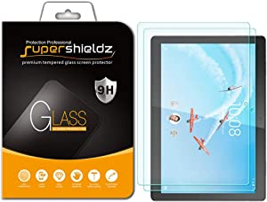 (2 Pack) Supershieldz for Lenovo Tab M10 / Smart Tab M10 (10.1 inch) Screen Protector, (Tempered Glass) Anti Scratch, Bubble Free
