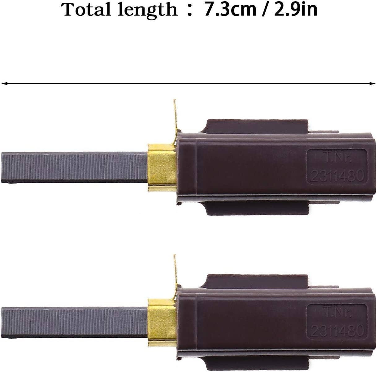 2 Pcs Vacuum Cleaner Carbon Brushes Holder Replacement Fit for Numatic Parts Compatible with 230155 230240 2311480