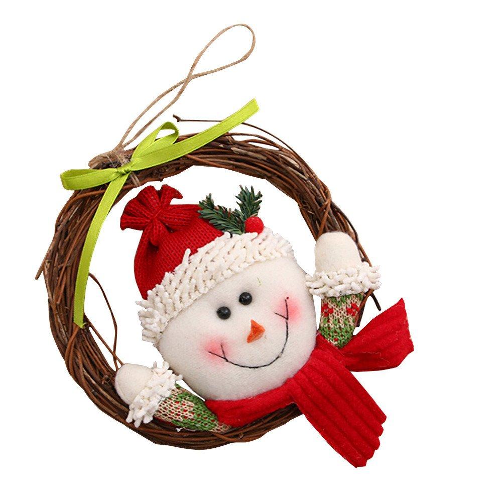 Coohole クリスマス リース パーティー ポインセチア パイン ドア 壁 ガーランド 装飾 B07J58PNW1 B