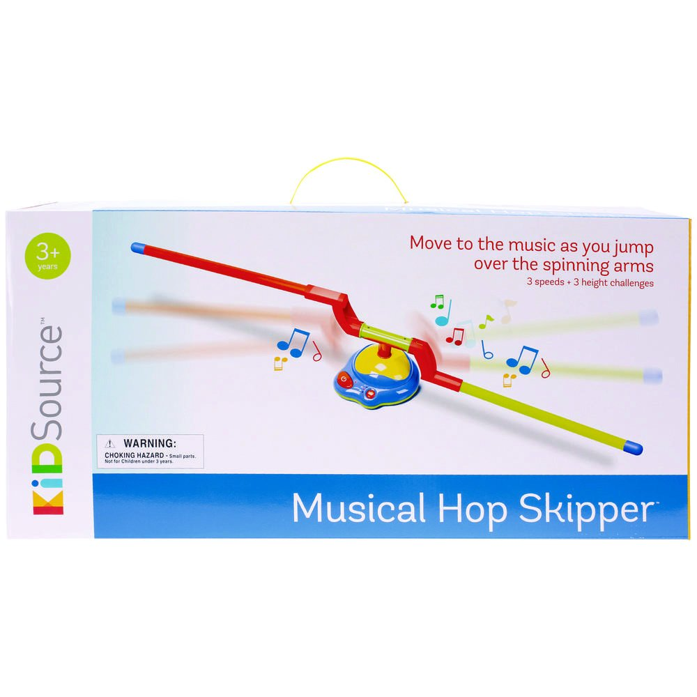 KidSource Musical Hop Skipper - Spinning Musical Toy for Active Indoor or Outdoor Jumping Play - 3 Speeds and Height Challenges for Ages 3 Years Old and Up by KidSource
